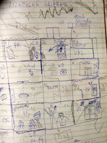 Mapa hry Žižkovská galérka